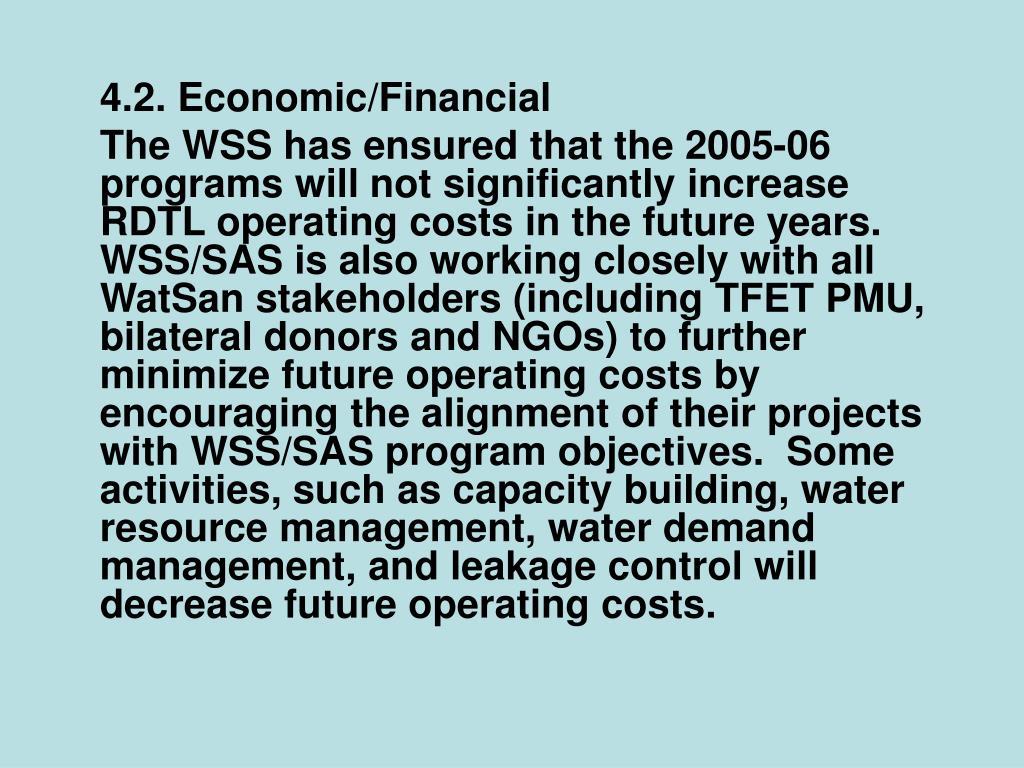 4.2. Economic/Financial