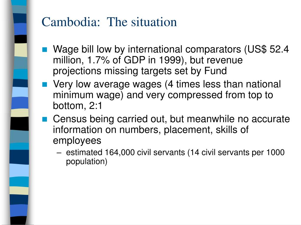 Cambodia:  The situation