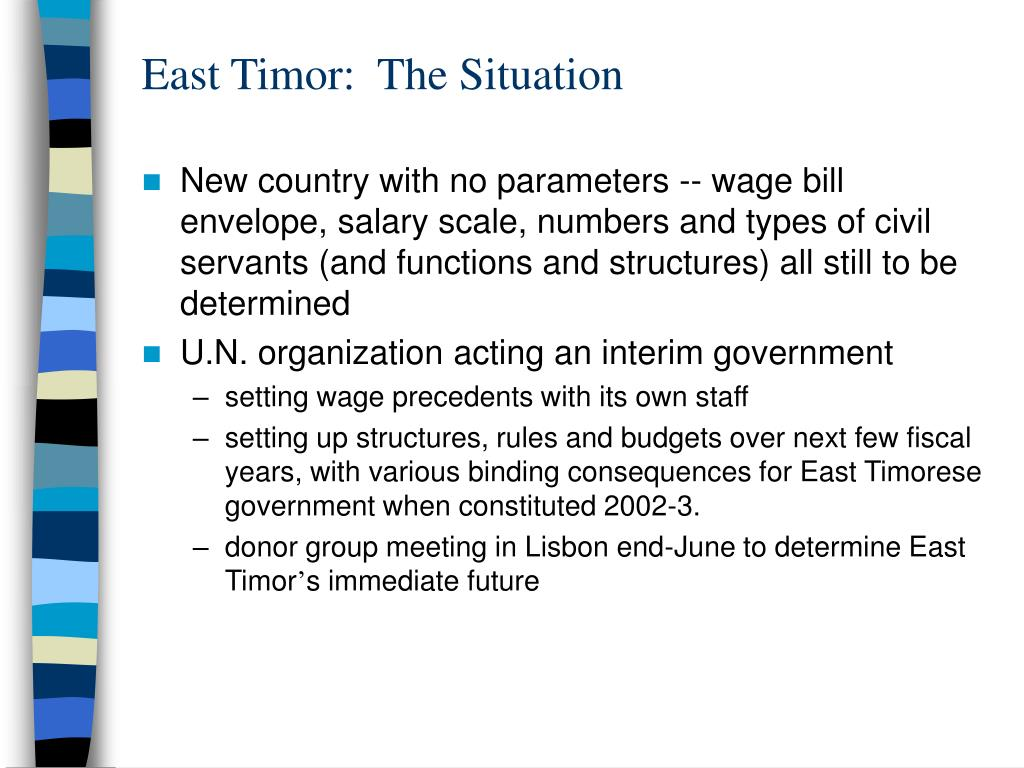 East Timor:  The Situation
