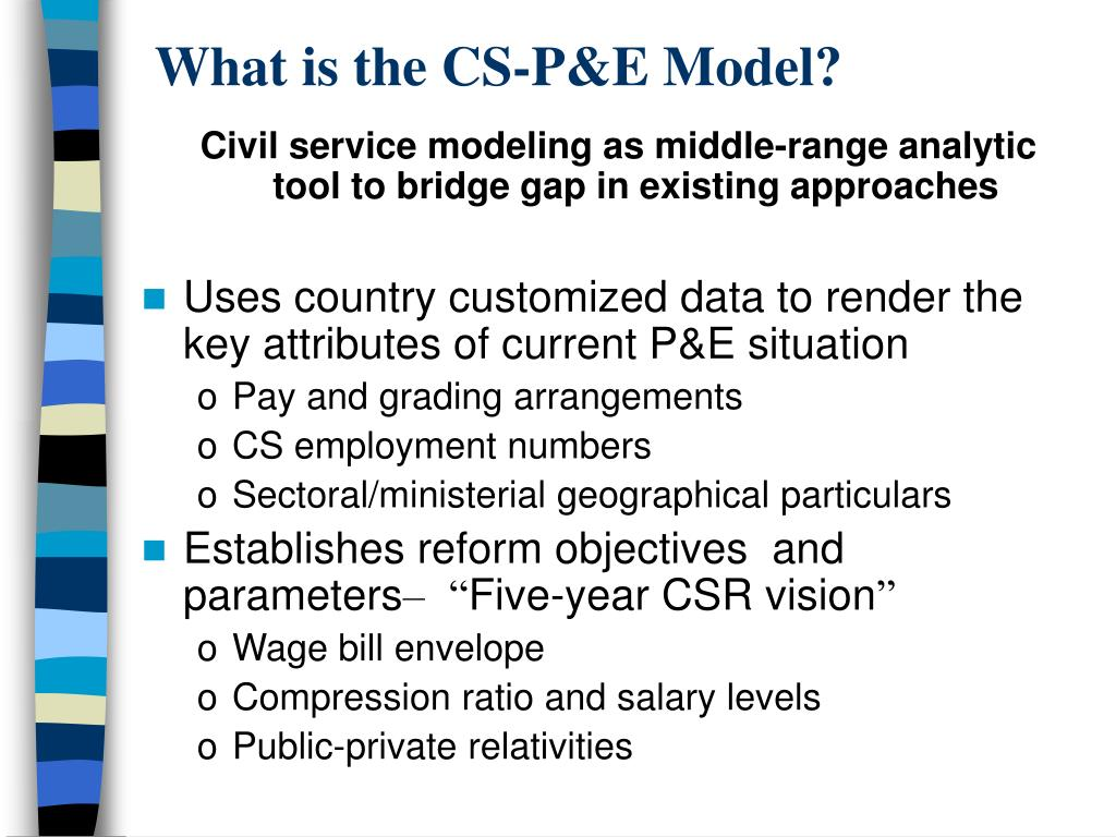 What is the CS-P&E Model?