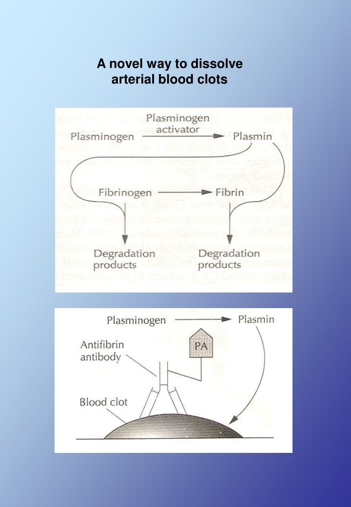 A novel way to dissolve arterial blood clots