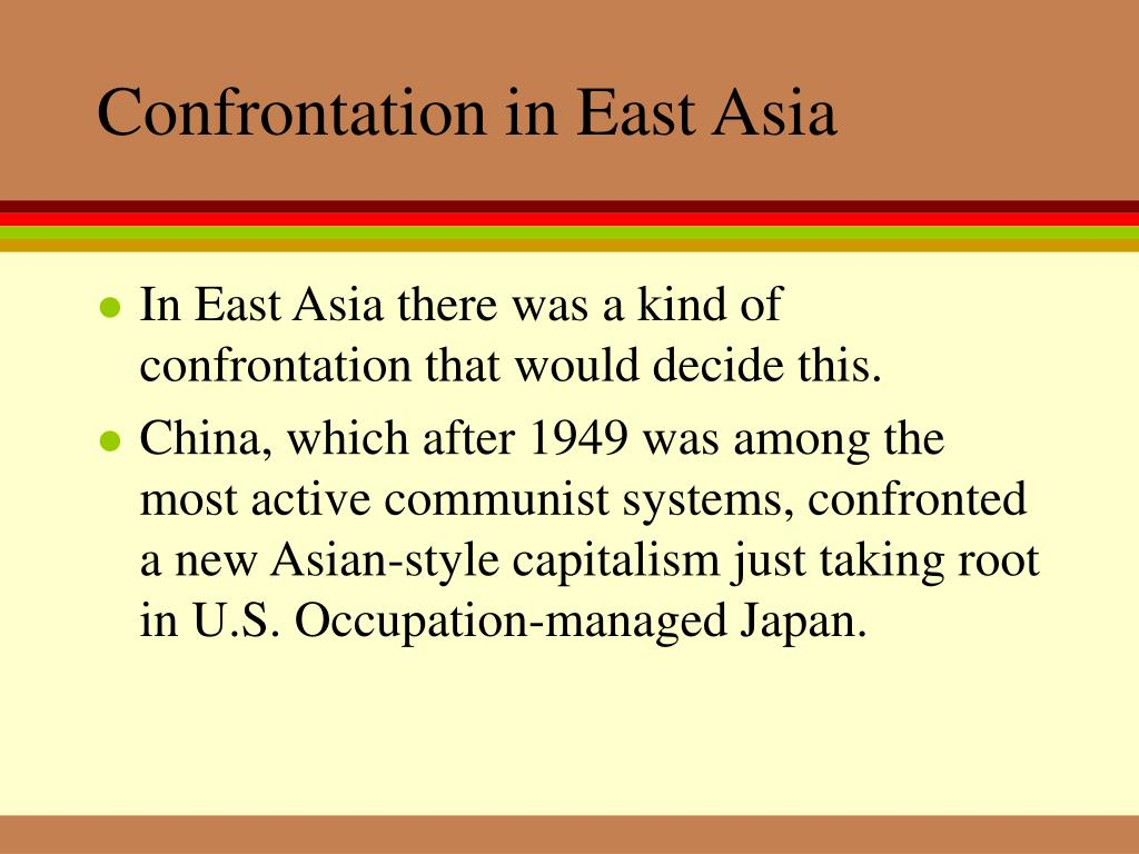 Confrontation in East Asia