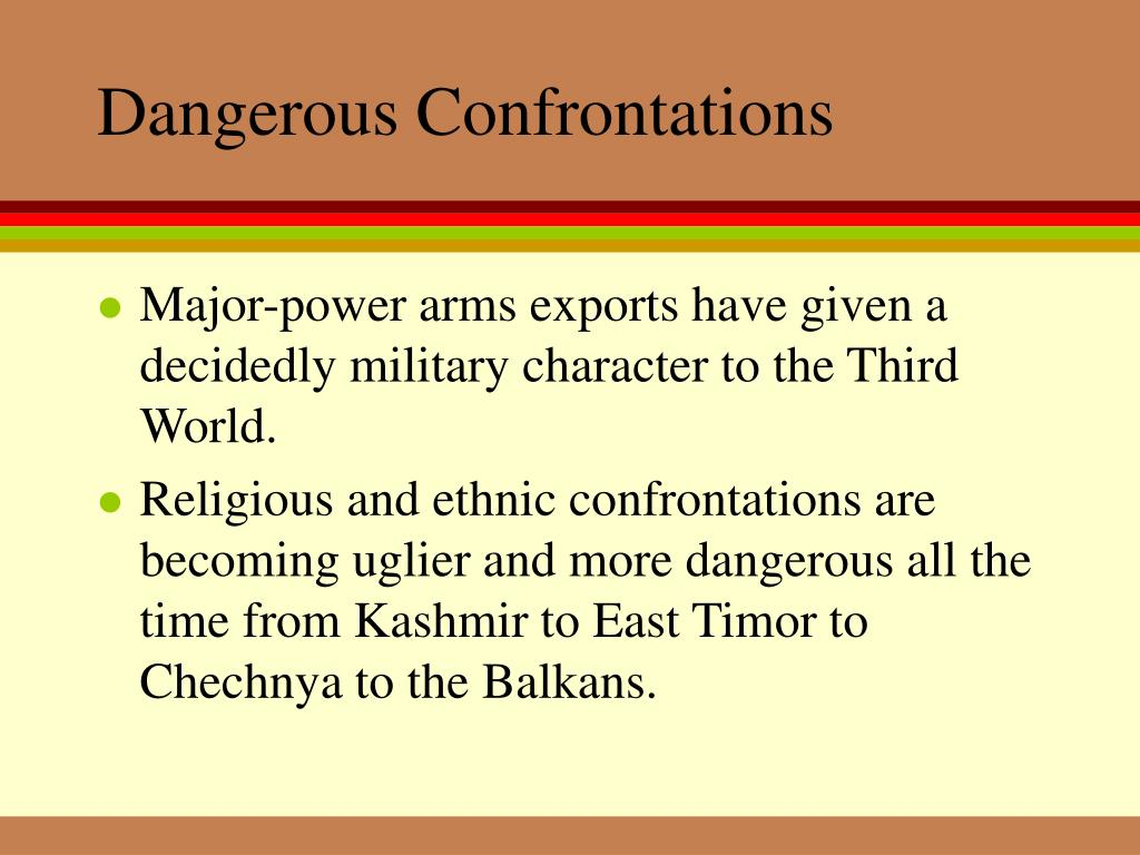 Dangerous Confrontations