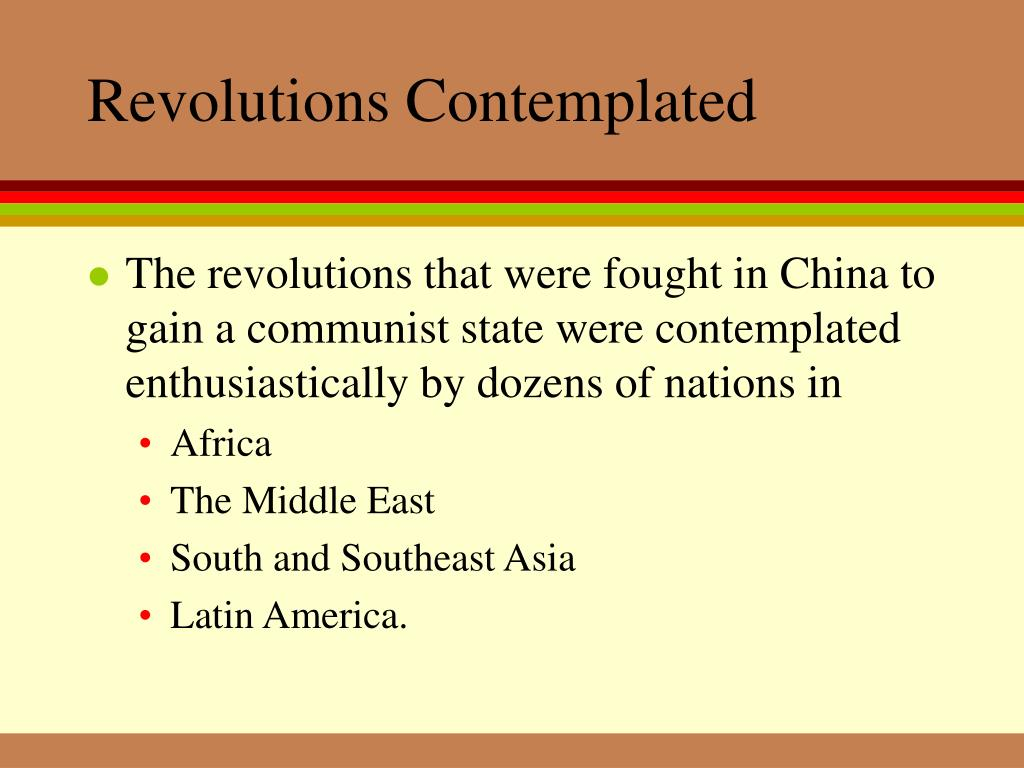Revolutions Contemplated