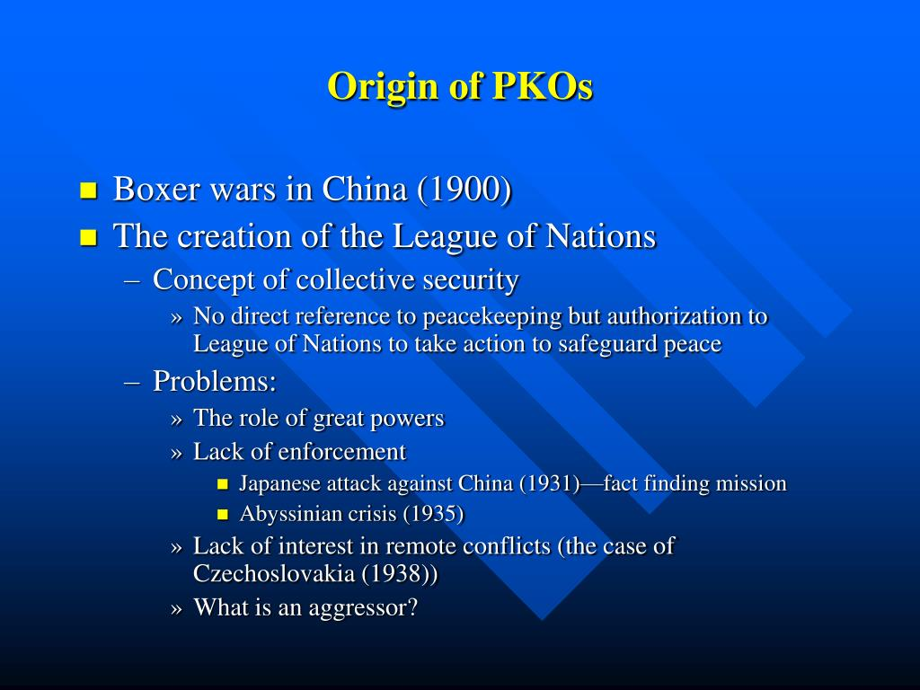 Origin of PKOs