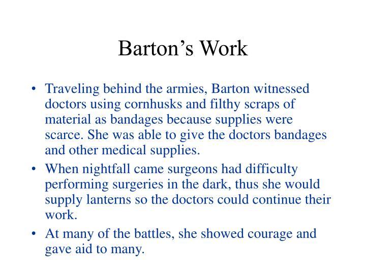 Barton's Work