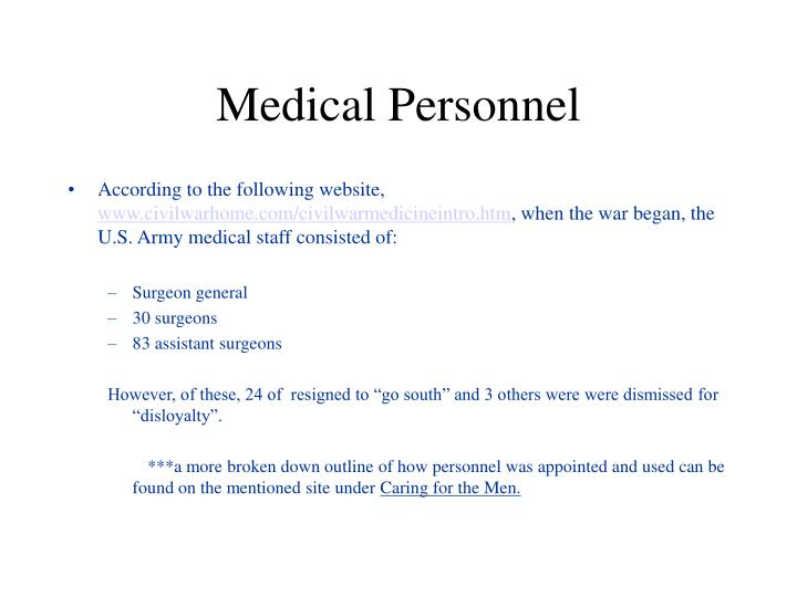 Medical Personnel