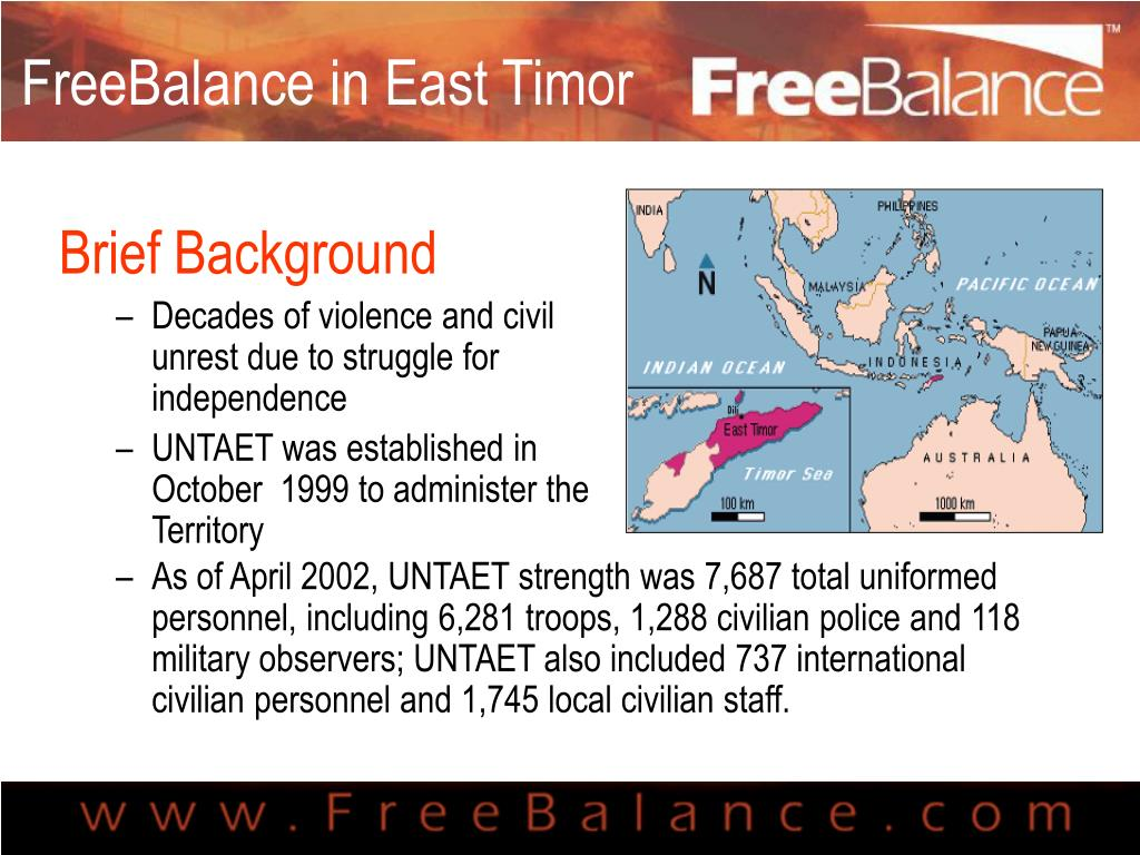 FreeBalance in East Timor