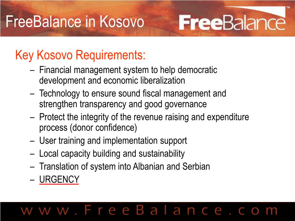 FreeBalance in Kosovo