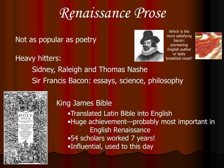 Renaissance Prose