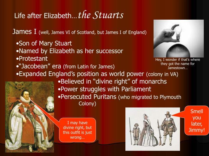 Life after Elizabeth…