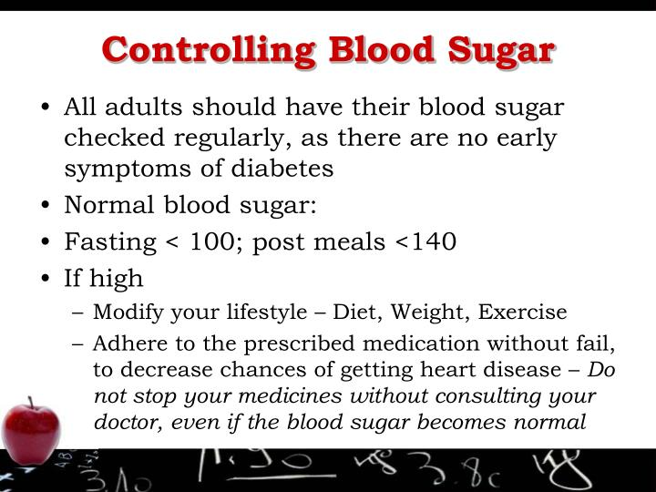 Controlling Blood Sugar