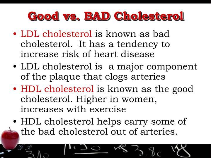 Good vs. BAD Cholesterol