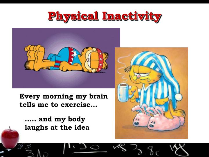 Every morning my brain tells me to exercise…