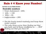 rule 4 know your number