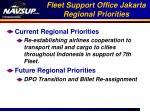 fleet support office jakarta regional priorities
