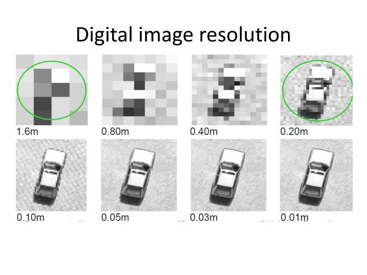 Digital image resolution