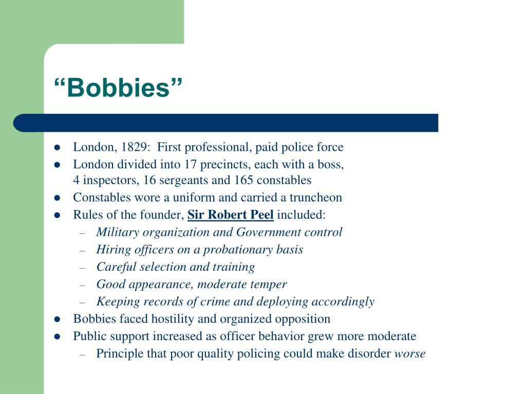 """Bobbies"""