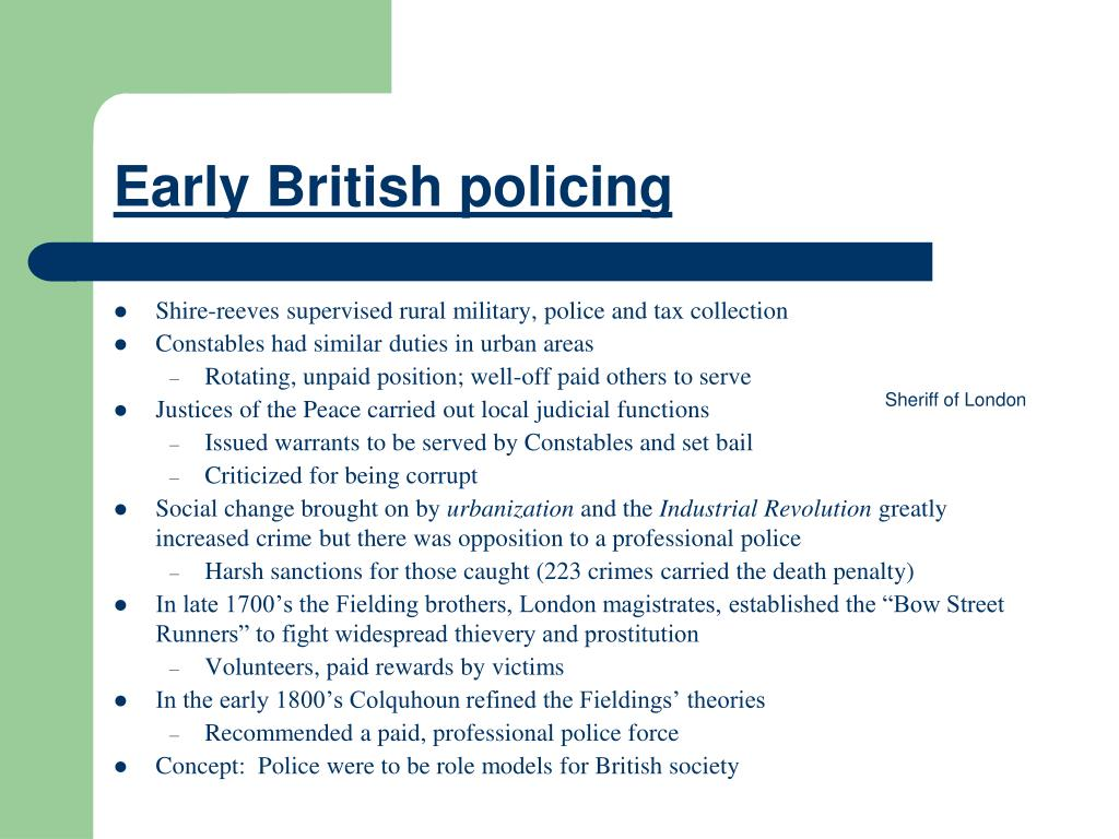 Early British policing