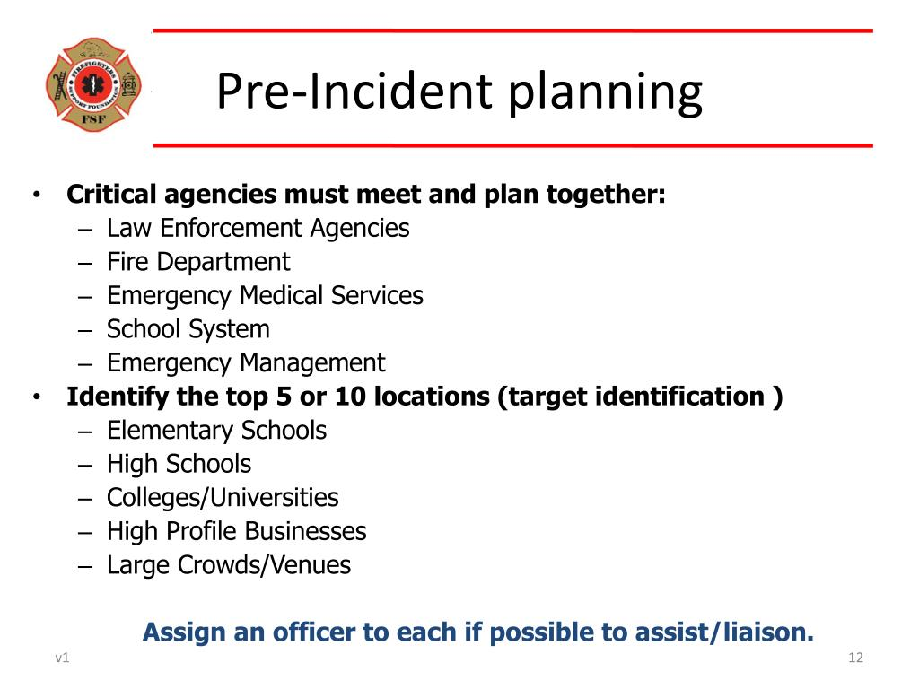 Critical agencies must meet and plan together: