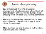 pre incident planning13