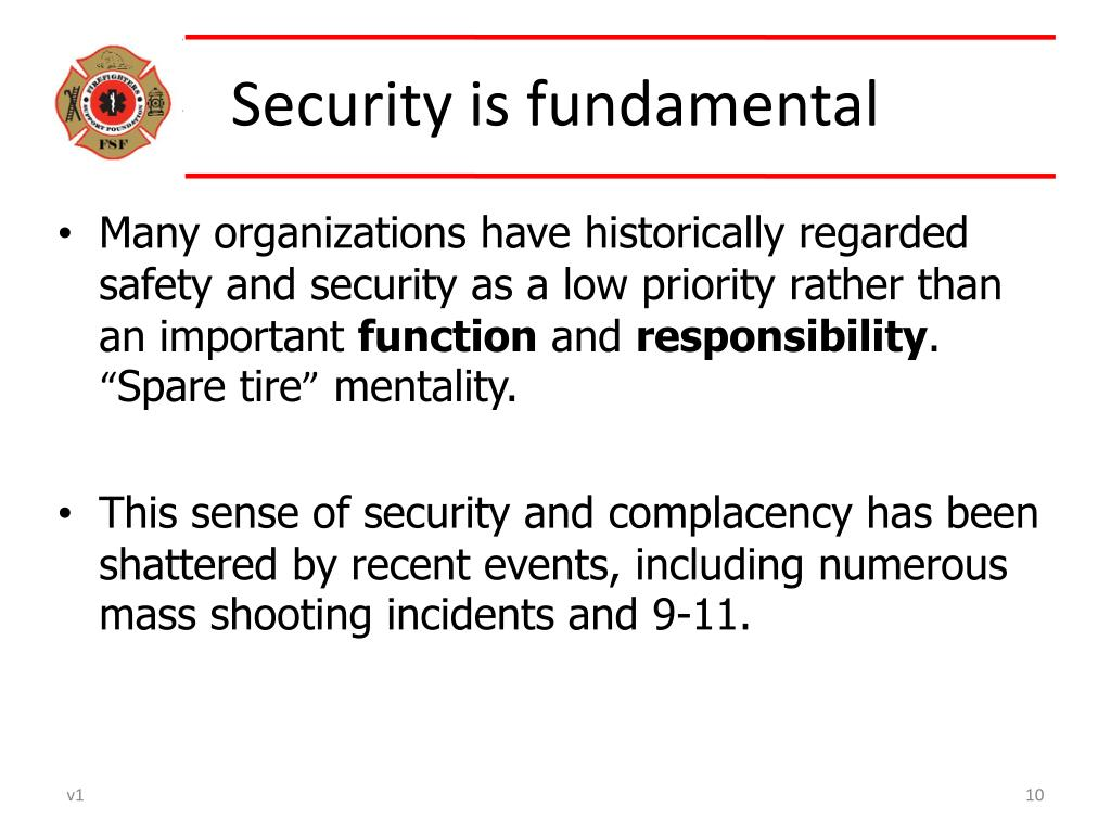 Security is fundamental