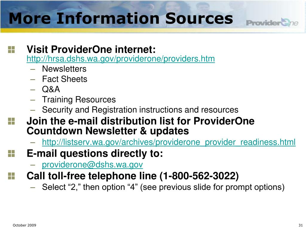 More Information Sources