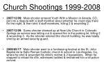 church shootings 1999 200810