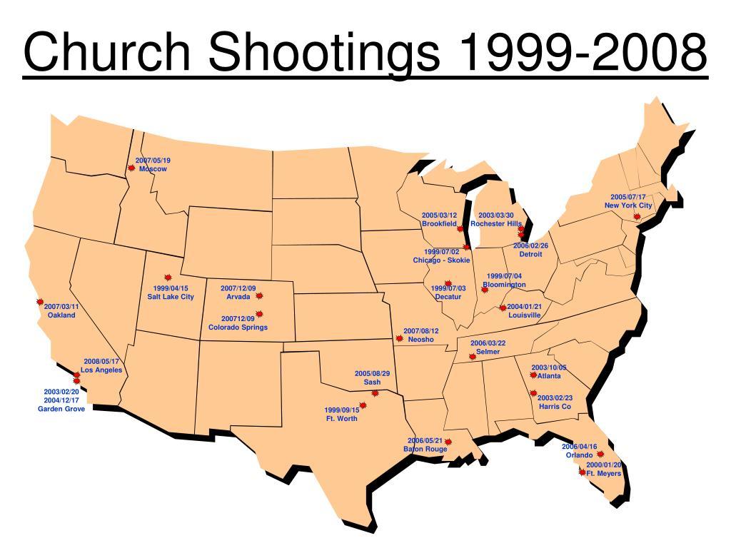 Church Shootings 1999-2008