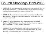 church shootings 1999 20086