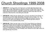 church shootings 1999 20087