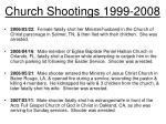 church shootings 1999 20088