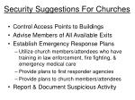 security suggestions for churches