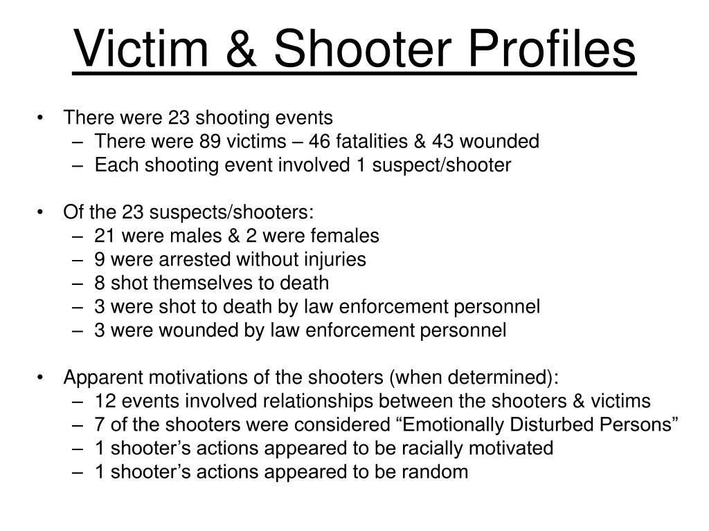 Victim & Shooter Profiles