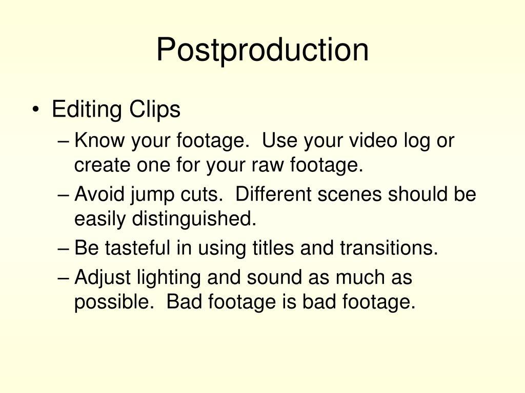 Postproduction
