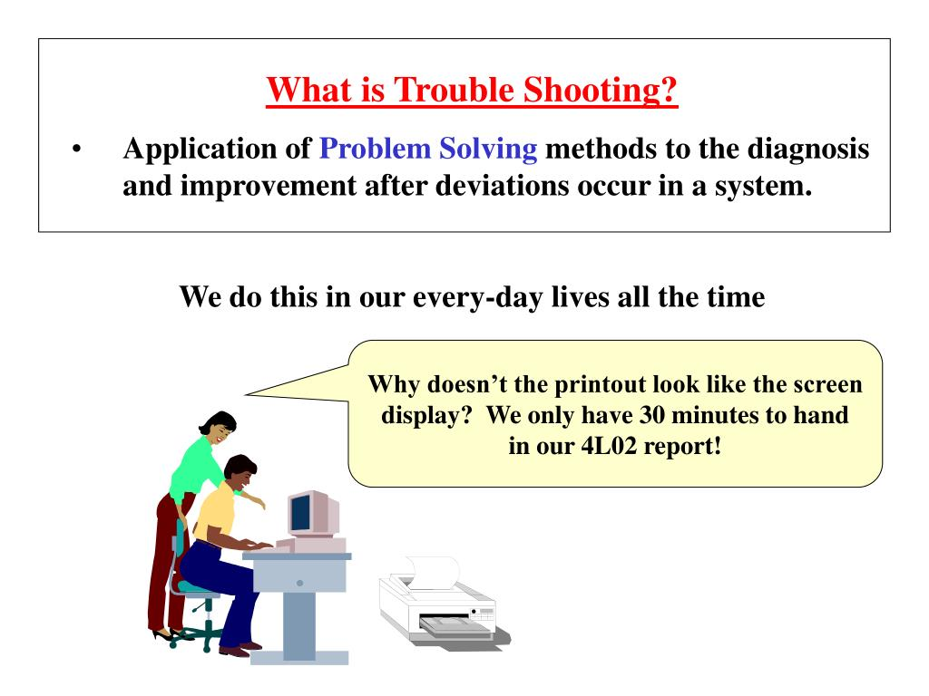 What is Trouble Shooting?