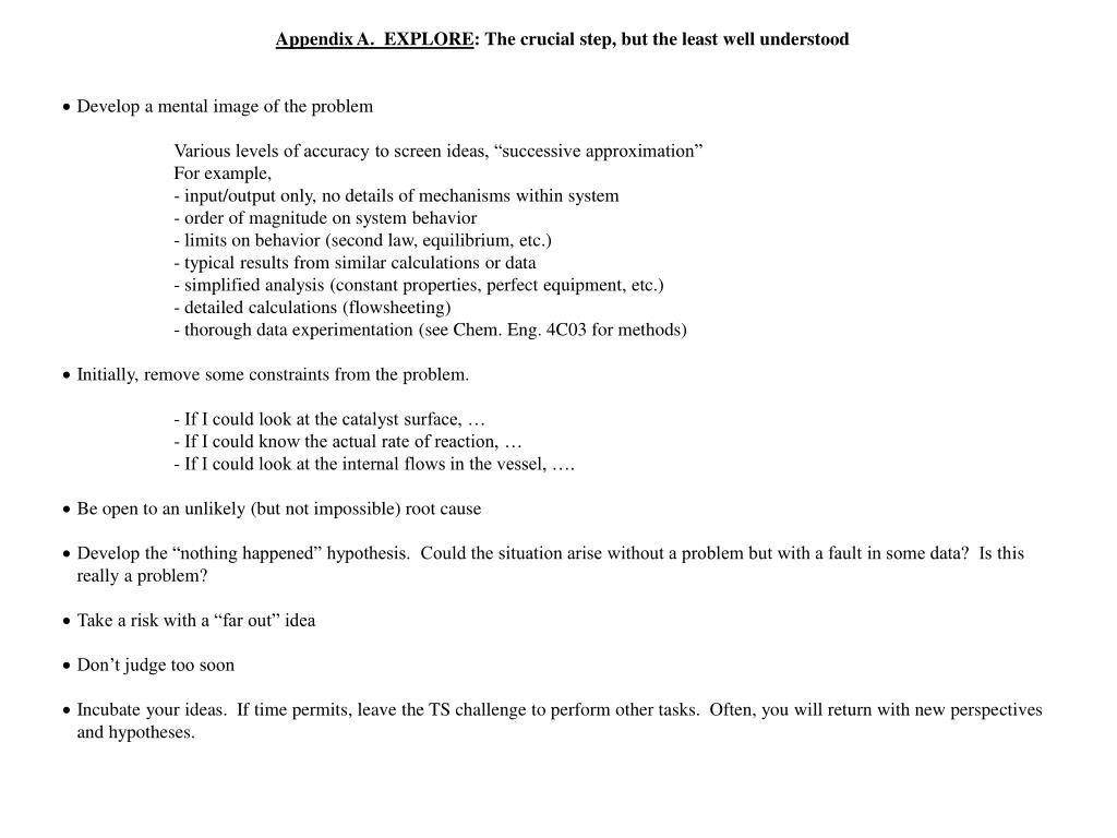 Appendix A.  EXPLORE