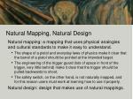 natural mapping natural design