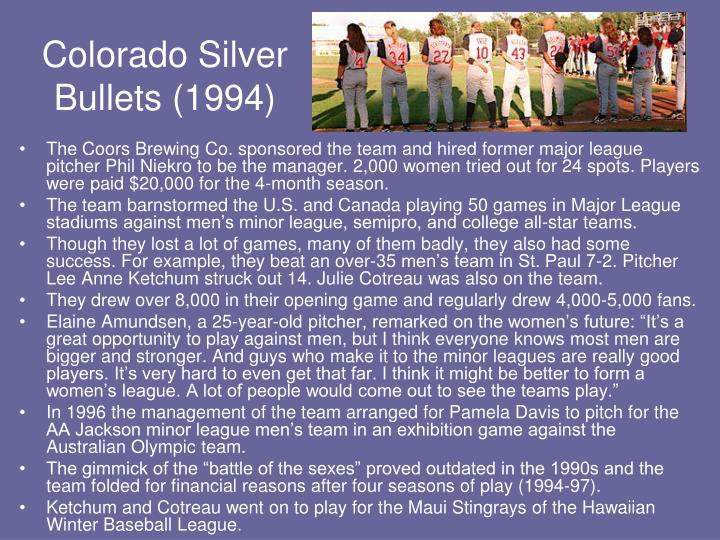 Colorado Silver Bullets (1994)