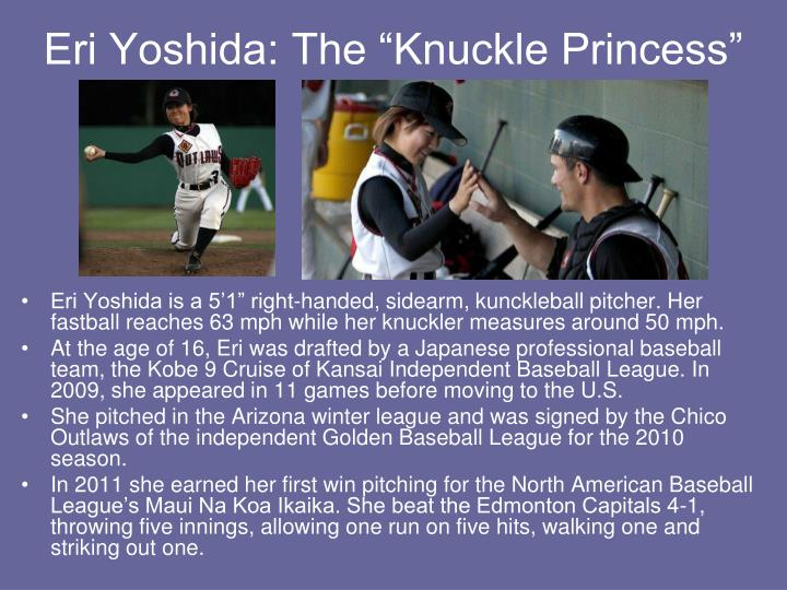 "Eri Yoshida: The ""Knuckle Princess"""