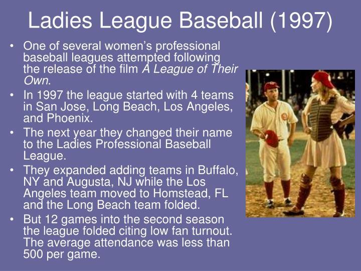 Ladies League Baseball (1997)