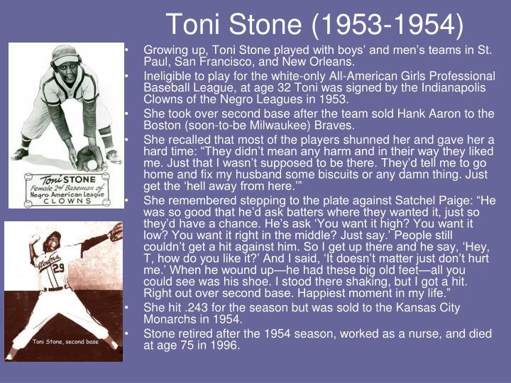 Toni Stone (1953-1954)