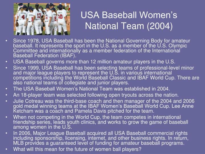 USA Baseball Women's National Team (2004)