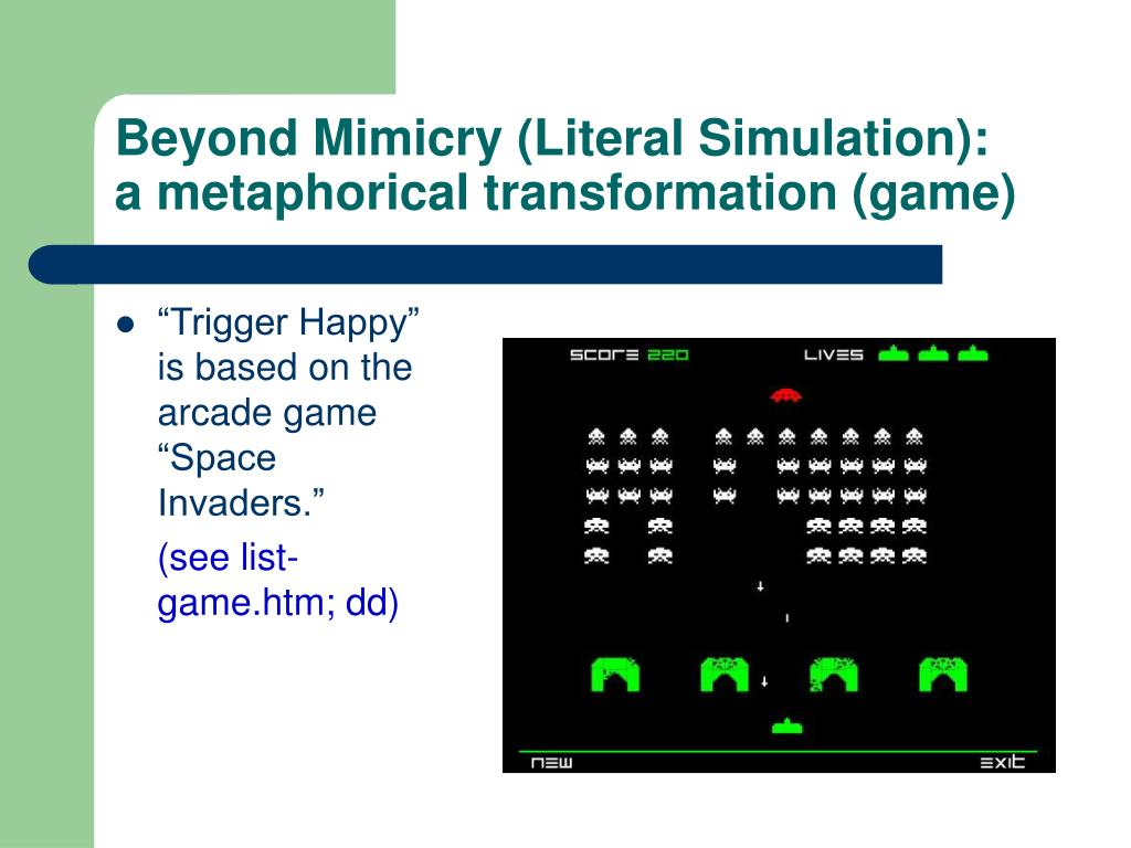 Beyond Mimicry (Literal Simulation):