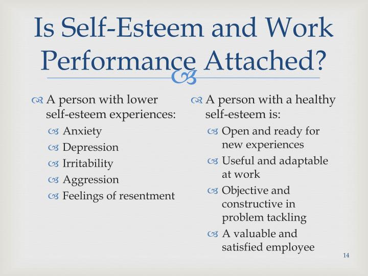 How important is self-esteem in the workplace?
