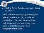 define player development as it relates to ayso
