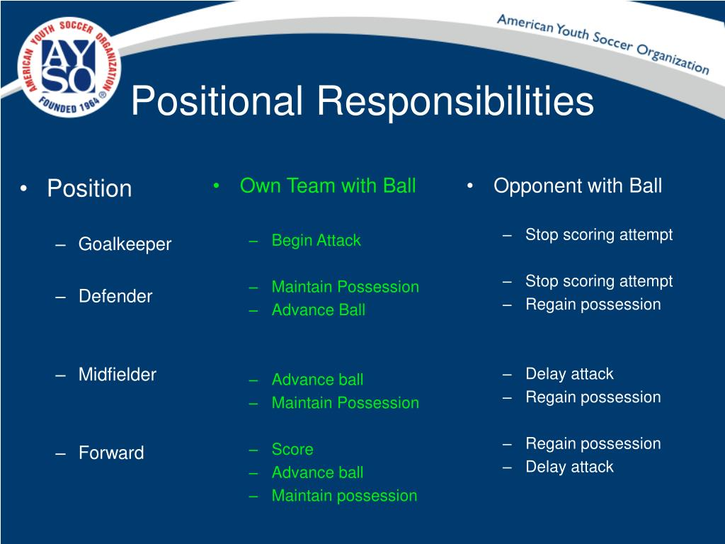 Positional Responsibilities