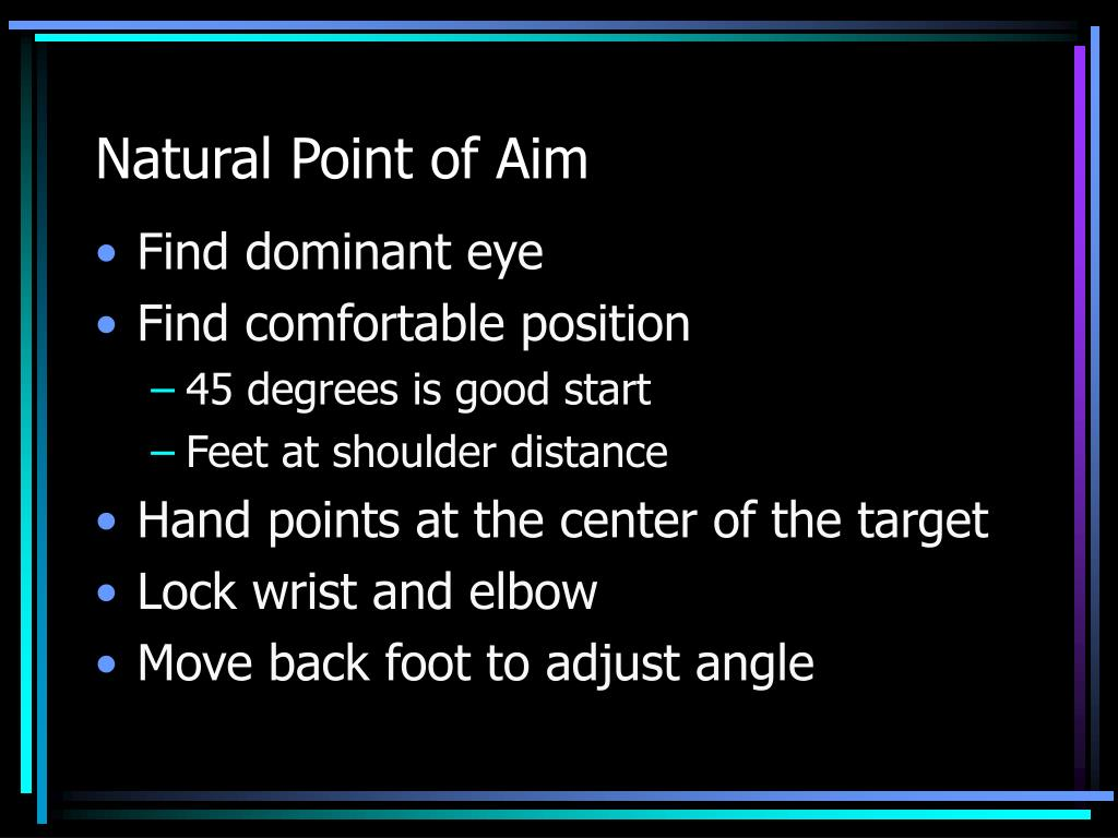 Natural Point of Aim