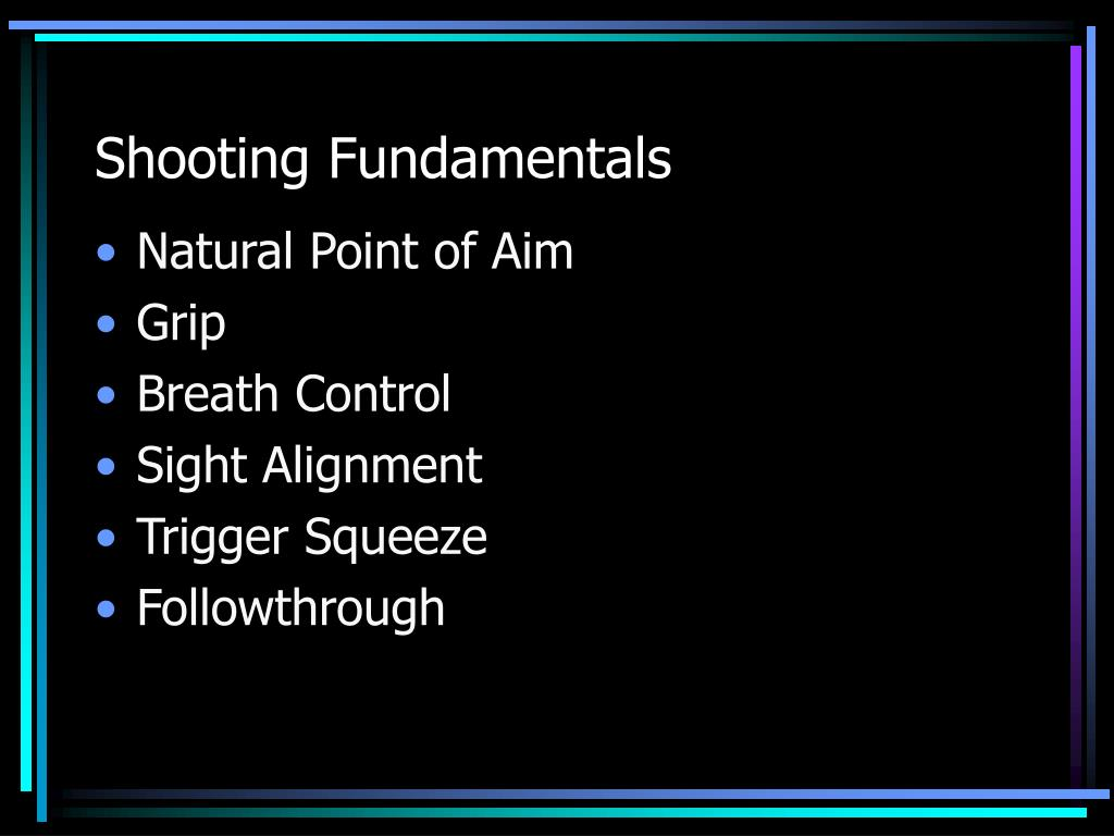 Shooting Fundamentals