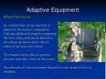 adaptive equipment54